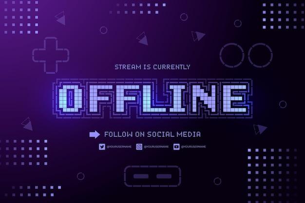 Bannière twitch hors ligne