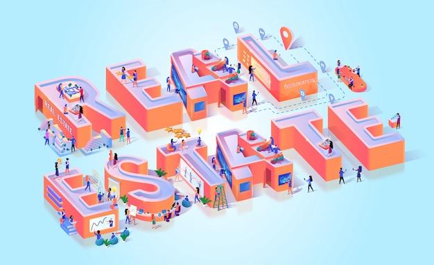 Bannière typographie développement immobilier