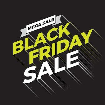 Bannière de typographie vente vendredi noir.