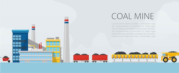Bannière usine de mine de charbon