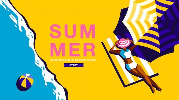 Bannière de vacances d'été