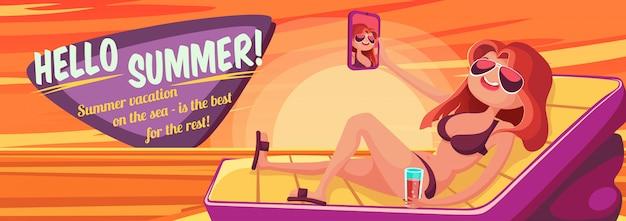 Bannière vacances d'été