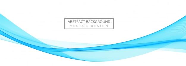 Bannière de vague élégante bleue créative