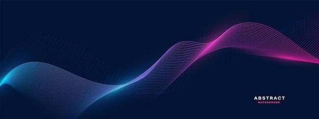 Bannière de vague de particules abstraites