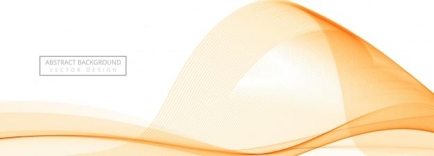 Bannière de vague qui coule abstrait sur fond blanc