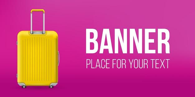Bannière de valise en plastique de voyage en polycarbonate