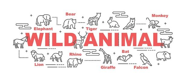Bannière de vecteur animal