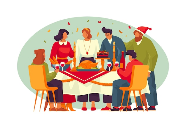 Bannière de vecteur ou carte de vœux pour le jour de thanksgiving