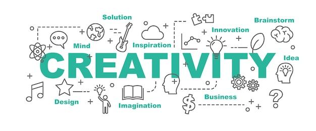 Bannière de vecteur de créativité