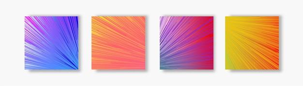 Bannière de vecteur fond de mouvement lumineux coloré pour la vente de bannière de concept de page de destination de médias sociaux