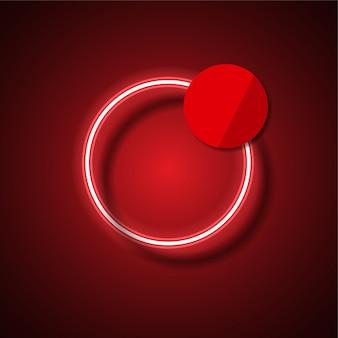 Bannière de vecteur de néon moderne. bannière rougeoyante.