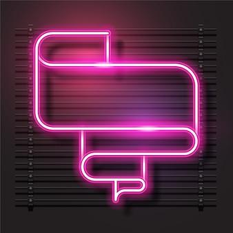 Bannière de vecteur de néon moderne. conception de modèle rose.
