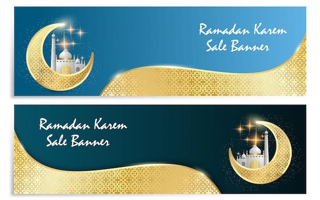 Bannière de vecteur de ramadan kareem