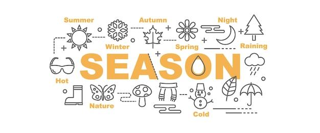 Bannière de vecteur de saison
