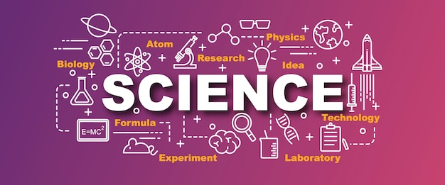 Bannière de vecteur de science