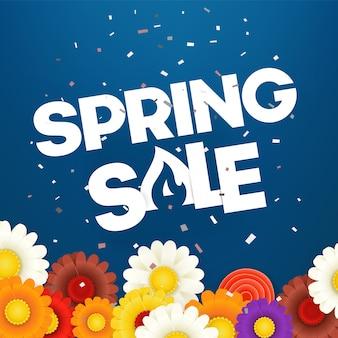 Bannière de vecteur vente printemps. illustration vectorielle photoréal