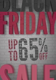 Bannière de vecteur de vente vendredi noir. remise de marketing promotionnel. élément de design pour les histoires de vente, les affiches, les cartes