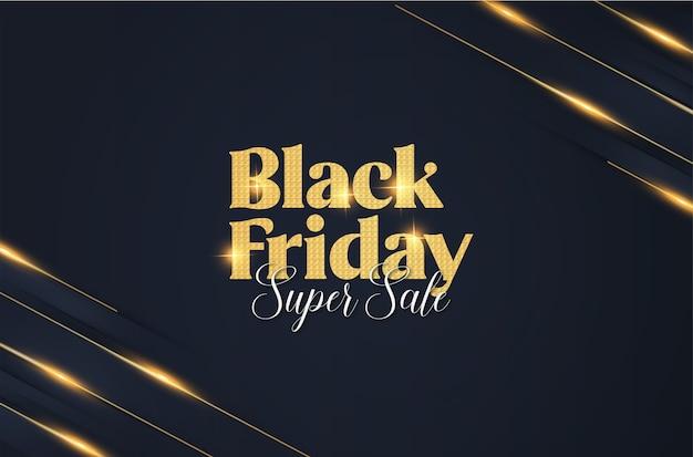 Bannière de vendredi noir élégant moderne avec fond de bannière abstraite
