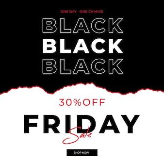 Bannière de vendredi noir en style papier