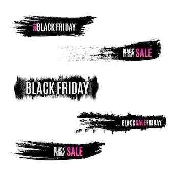 Bannière vendredi noir vente pour faire du shopping.