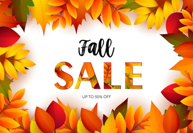 Bannière de vente au détail d'automne