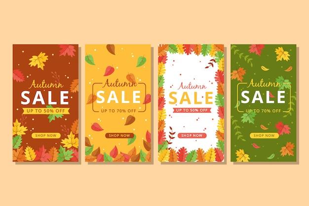 Bannière de vente automne coloré