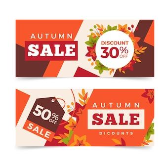 Bannière de vente automne