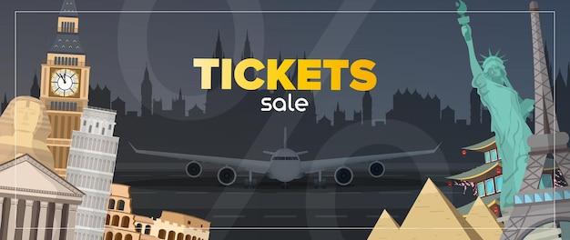 Bannière de vente de billets