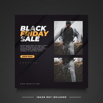 Bannière de vente black friday avec un concept simple et minimaliste