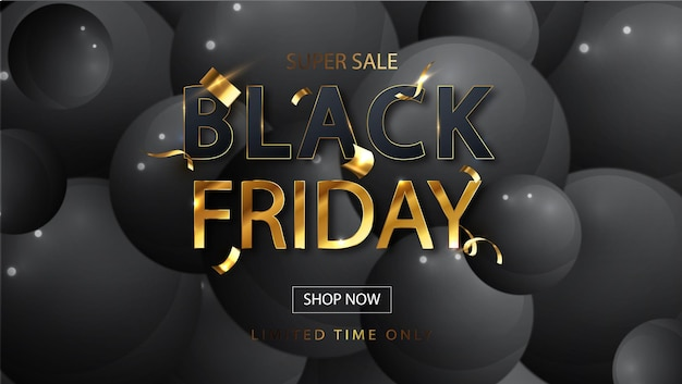 Bannière de vente black friday pour les ventes. promo vente pour boutiques, web. fond de vecteur universel pour affiche, bannières, flyers, carte