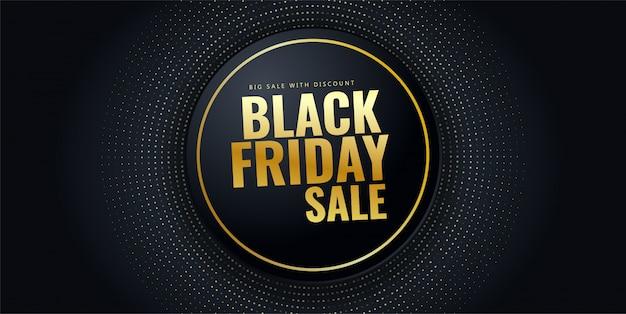 Bannière de vente black friday