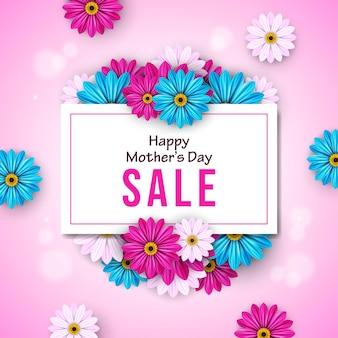 Bannière de vente bonne fête des mères