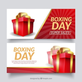 Bannière de vente de boxe
