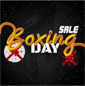 Bannière de vente boxing day ou modèle de conception.