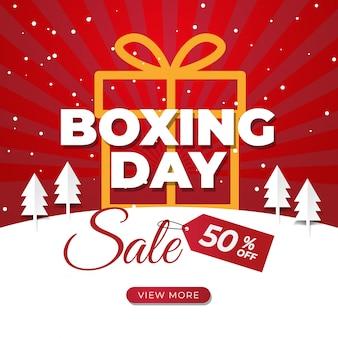 Bannière de vente boxing day pour publication sur les médias sociaux