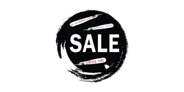 Bannière de vente de brosse. conception de mise en page de bannière.