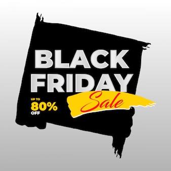 Bannière de vente brosse vendredi noir