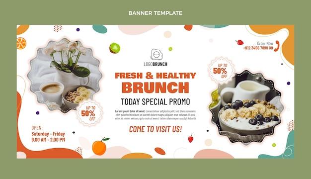 Bannière de vente de brunch délicieux design plat