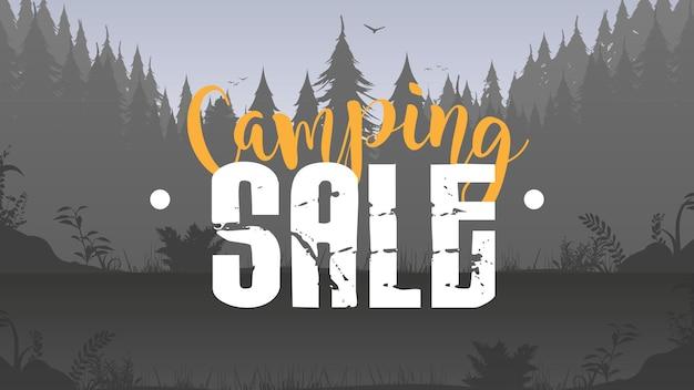 Bannière de vente de camping