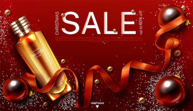 Bannière de vente de cosmétiques