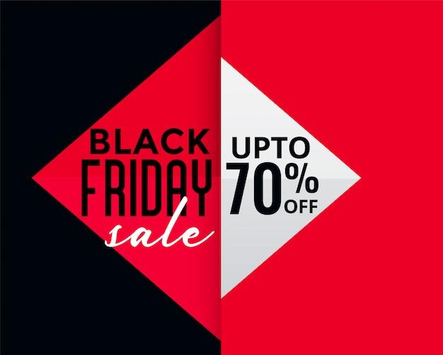 Bannière de vente créative vendredi style géométrique noir