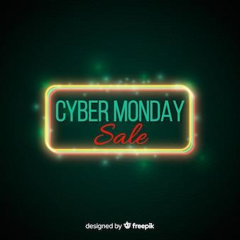 Bannière de vente cyber lundi