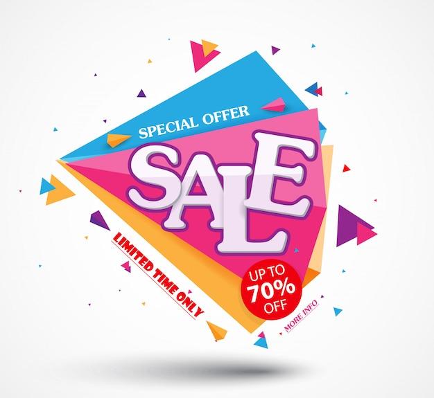 Bannière de vente et design de la meilleure offre