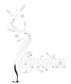 Bannière de vente discount happy diwali, illustration vectorielle.