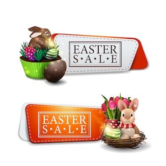 Bannière de vente discount de pâques