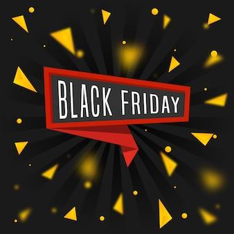 Bannière de vente discount vendredi noir