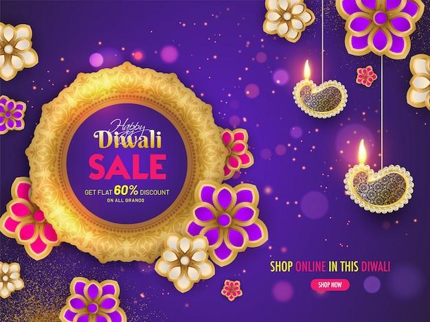 Bannière de vente diwali.