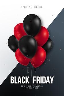 Bannière de vente du vendredi noir