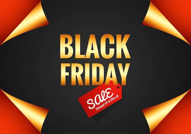 Bannière de vente élégante vendredi noir