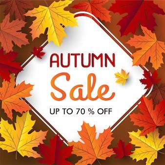 Bannière de vente érable automne